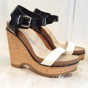 BCBG Two Toned Wedges